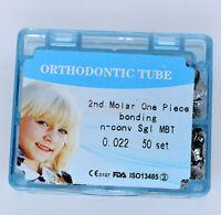 Dental Orthodontic 022 MBT Bonding Non Convertible 2nd Molar Buccal Tube 50set