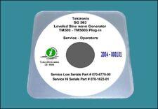 Tektronix SG503 Generator Service operating Manual  Hi + Lo Serials & Diagrams