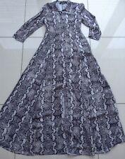 Zara Woman Snakeskin Maxi Shirt Dress Uk Size XS