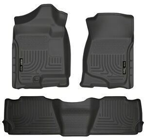 Husky Liners Front And 2nd Seat Floor Liners For 2007-2013 Cadillac Escalade EXT