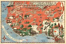 Afrique Occidentale Francaise-French West Africa 1951 75cm x 50cm Art Print