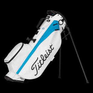 NEW TITLEIST 2021 PLAYER 4  STAND BAG  MODEL# TB21SX4-144 WHITE /DORADO BLUE