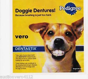 2010 magazine ad PEDIGREE DOGGIE DENTURES dog teeth food advertisement print