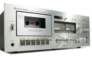 KENWOOD KX-1030 3-HEAD CASSETTE DECK SERVICED NEW BELTS MINTY IN BOX W MANUAL