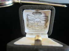 Antique Vintage Sanz Barcelona Spain Jewelers Presentation Hinged Ring Box