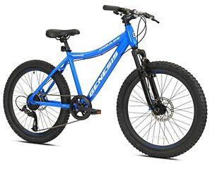 "Genesis 24"" Mauler Boy's Mountain Bike, Blue Fast Free Shipping New Arrival"