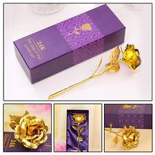 Neu Goldene Gold Rose mit 24K Gold vergoldet Muttertag Geburtstag Geschenk