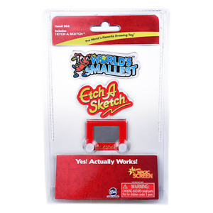 World's Smallest Classic Game ETCH A SKETCH Miniature Retro Toy
