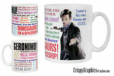 DR WHO MUG - MATT SMITH - 11th Doctor Quotes Mug
