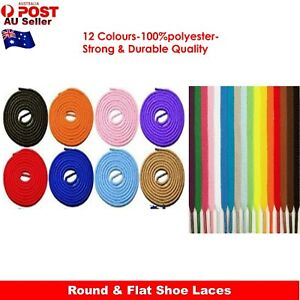 Shoelaces Round Flat Colorful Bootlace Sneaker shoe laces Sports Casual Classic