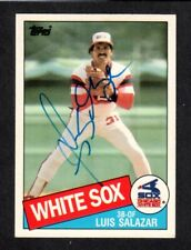 1985 TOPPS #102T Luis Salazar  CHICAGO WHITE SOX  SIGNED AUTOGRAPH AUTO COA