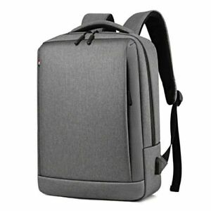 New Fashion Men Canvas School Backpack Casual Notebook Travel Laptop Bag