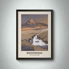 More details for snowdonia national park modern travel poster - framed - bucket list prints