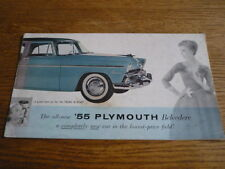 Plymouth Belvedere voiture brochure, 1955 USA
