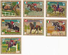 Guinea Equatorial 1972 Summer Olympic, Munich 1972, MNH, perf. horses Equestrian