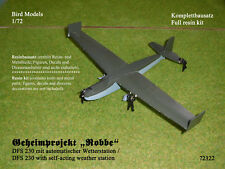 "Geheimprojekt ""Robbe""  DFS 230    1/72 Bird Models Resinbausatz / resin kit"