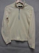 V5316 Mountain Hard Wear Beige Fleece 1/2 Zip Up Polartec Jacket Women S/P