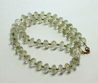 Prasiolith Kette Edelsteinkette,Halskette,gruner amethyst 925 Silber Damen 44 cm