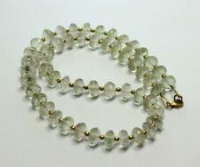 Prasiolith Necklace Precious Stone Necklace Gruner Amethyst 925 Silver Women 17
