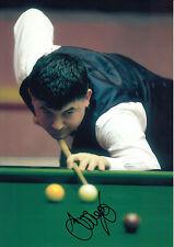 John Parrott Hand Signed Snooker 12x8 Photo.