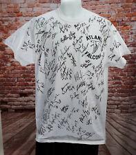 Atlanta Falcons signed Team Shirt Vtg single stitch football Size Large 90s Vtg