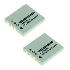 2 baterías para Pentax Optio s5i