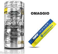 Platinum 100% Carnitina 180 caps Dimagrante Termogenico Bruciagrassi + OMAGGIO