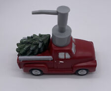 St. Nicholas Square Red Farm Truck Christmas Tree Soap Lotion Dispenser Pump
