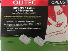 OLITEC Adaptateur CPL 85Mbps (Deux adaptateur)