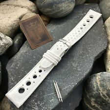 Best Price 19mm Perforated Dive Rally Strap nos Vintage Watch Band