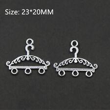 14//42pcs Tibetan silver Hanger shape Earrings Making Charms Pendants 24*17mm