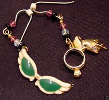 CATS-EYE SUNGLASSES CHARM EARRINGS Wire W/ Diamond Ring & Girls Hand Jewelry