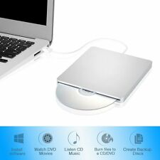 USB2.0 External CD/DVD-RW Drive Reader Player For PC Macbook Pro Air Notebook US