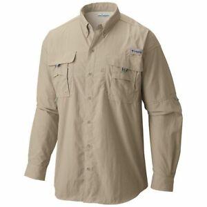Columbia Mens Bahama II Fossil Long Sleeve Shirt