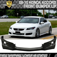Fits Honda Accord 2Dr PU Front Bumper Lip HFP-Style Poly-Urethane 2008 2009 2010