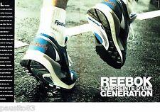 PUBLICITE ADVERTISING 116  1989   Reebok  (2p)   chaussures de sport baskets