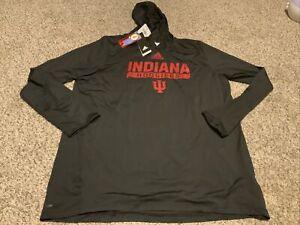 adidas Indiana Hoosiers L/S Training Top Hoodie AEROREADY Men's Size: XLT NWT
