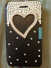 Brand New! Black W BLING Wallet-Cover For iPhone 4G/4GS