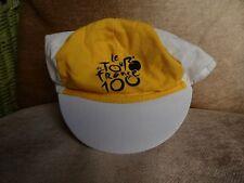 Official Tour de France100 centennial hat, yellow and white, excellent condition