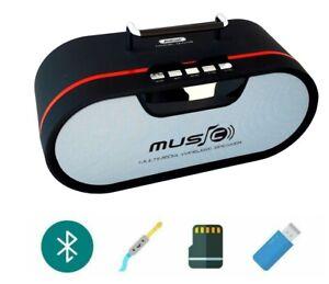 Cassa speaker bluetooth ricaricabile portatile FM microSD TF USB AUX QW09