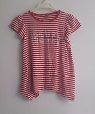 Sweet TU girl short sleeve top  tunic 3-4  years red & white stripe