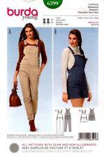 Burda Sewing Pattern 6599 Burda Style Overalls Pants Shorts Womens Size 6-18