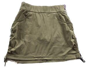 Columbia Womens Small Omni Shield Advanced Repellency Beige Stretch Skirt Skort