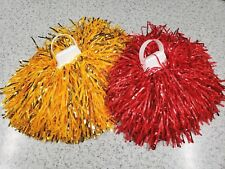 USC Cheer Cheerleader Pom Poms Gold & Red Set NEW