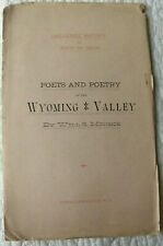 1887 POETS & POETRY of the WYOMING VALLEY, by Will S. Monroe PA Lackawanna bklt