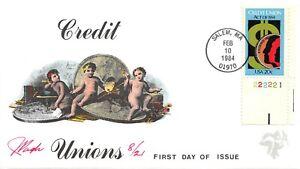 2075 20c Credit Union Act, Pugh hand painted cachet [091521.305]