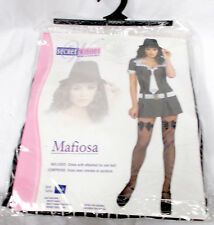 Secret Wishes Mafiosa Mafia Gangster Womans Dress Adult Costume S 2-6 NIP