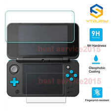 Top + Bottom Tempered Glass Cover Film Screen Protector For Nintendo 2DS XL