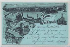 73945/21- Mondschein Litho Gruß aus Wolkersdorf Bezirk Mistelbach, Wien 1899