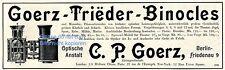 Goerz Fernglas Reklame von 1903 Tieder Binocles Berlin Friedenau Werbung ad